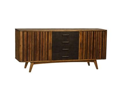 Rustic Black & Zebra Pine Sideboard