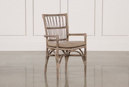 Grey Toned Rattan Chair