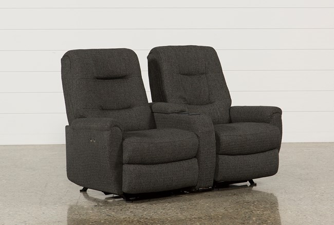 Jaden Fabric Power Rocker Reclining Loveseat W/Console