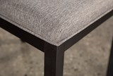 Modern Upholstered Seat Side Chair - Top
