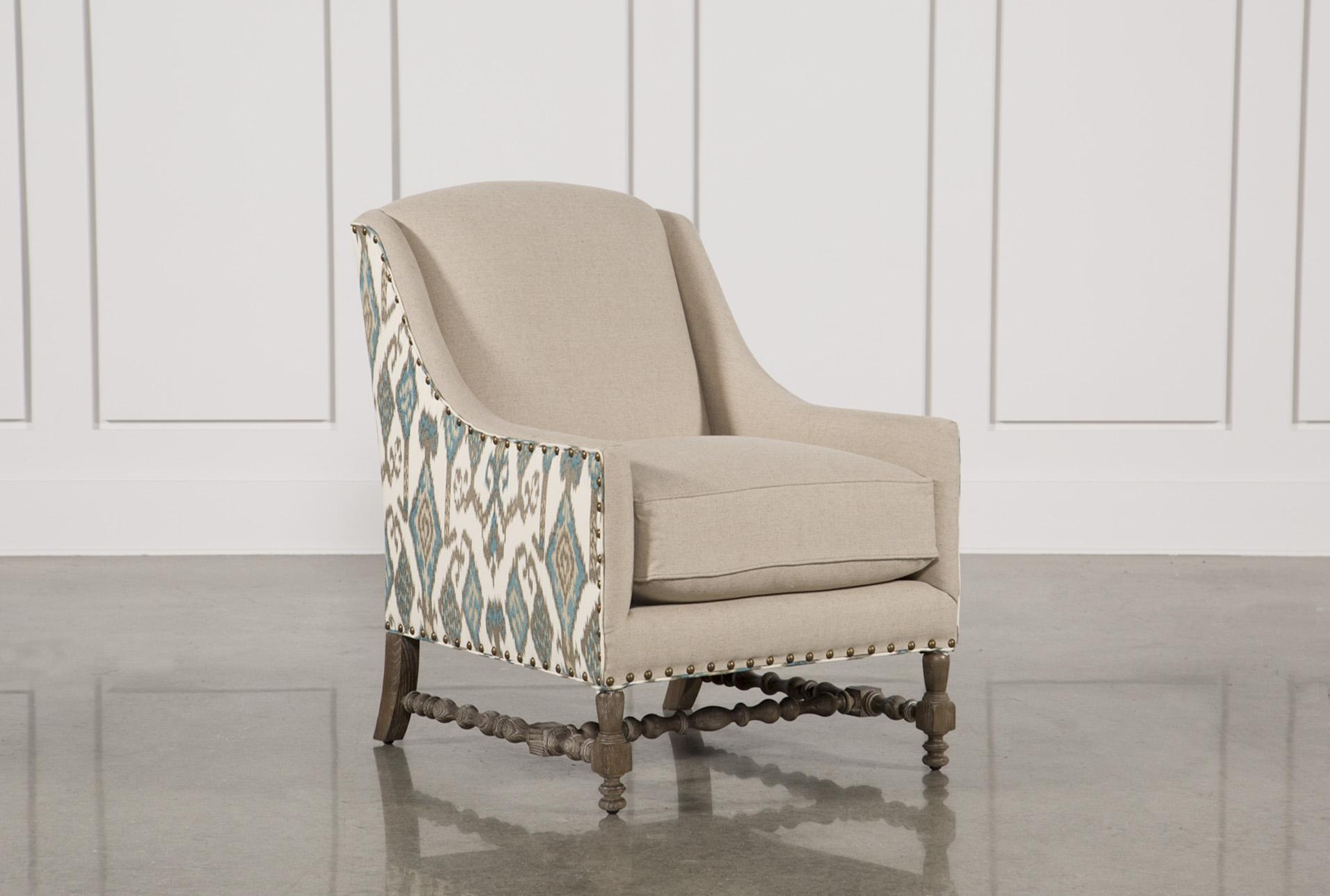 Teal Linen W/Nailheads Accent Chair   360