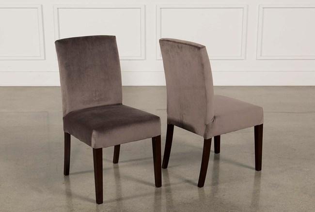 Garten Caviar Chairs W/Espresso Finish Set Of 2 - 360