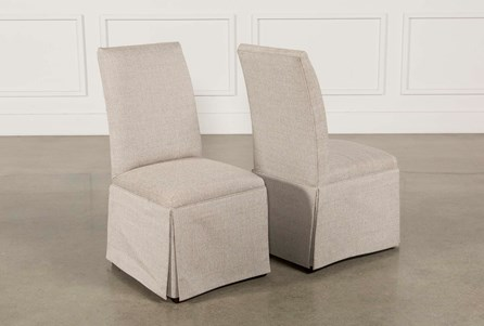 Garten Linen Skirted Side Chairs Set Of 2