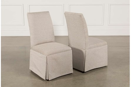 Garten Linen Skirted Side Chairs Set Of 2 - Main