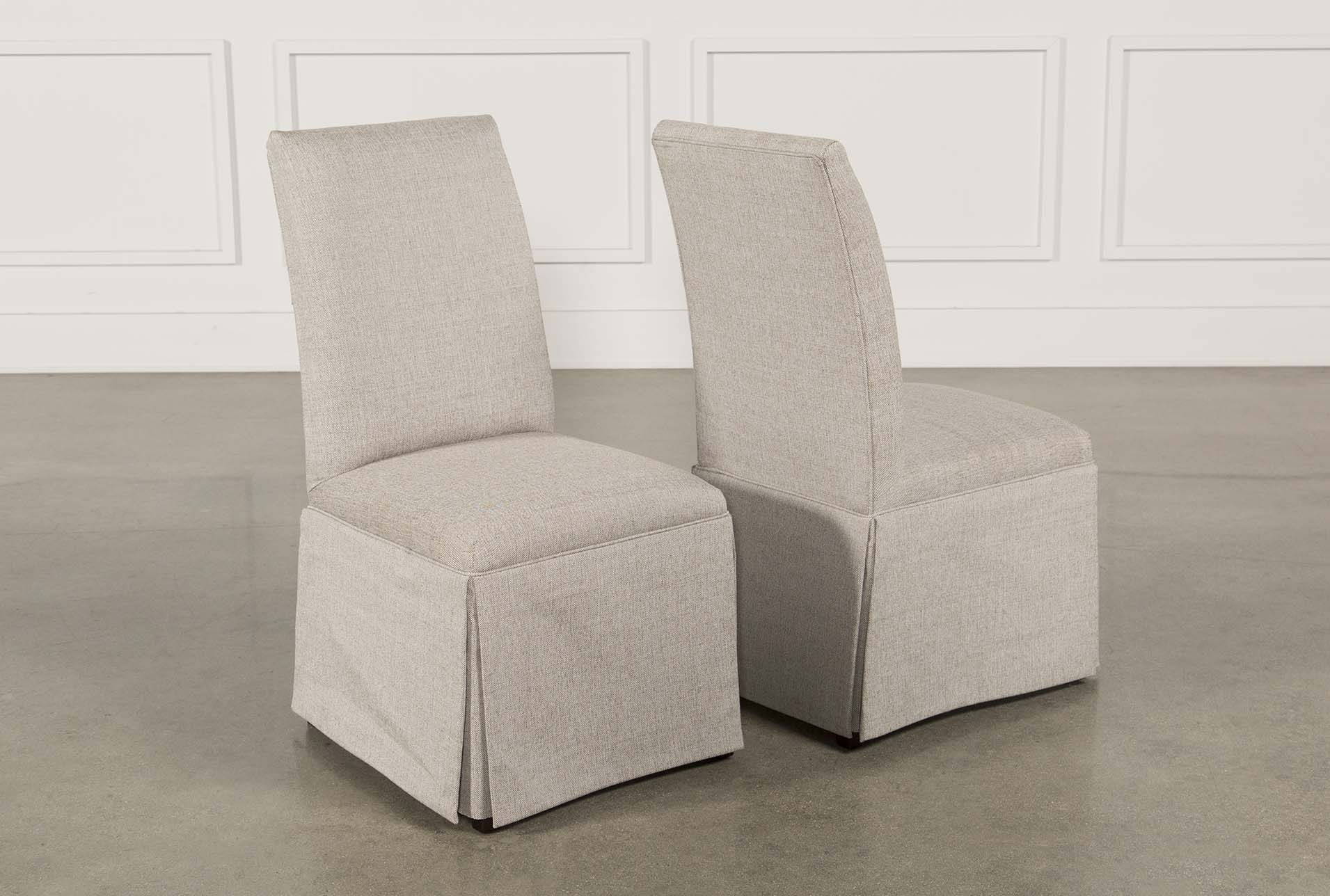 Garten Linen Skirted Side Chairs Set Of 2 (Qty: 1) Has Been Successfully  Added To Your Cart.