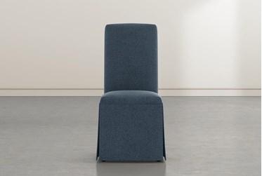 Garten Denim Skirted Dining Side Chairs Set Of 2