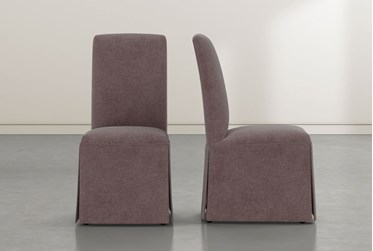 Garten Mauve Skirted Dining Side Chairs Set of 2