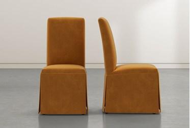 Garten Orange Skirted Dining Side Chairs Set of 2