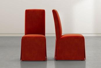 Garten Vermillion Skirted Dining Side Chairs Set of 2