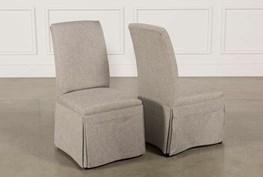 Garten Pashmina Skirted Side Chairs Set Of 2