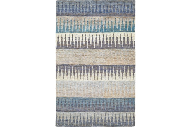 66X102 Rug -Turquoise Tribal Stripes - 360