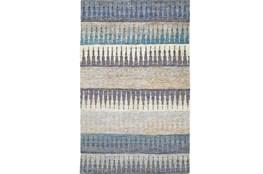 93X117 Rug -Turquoise Tribal Stripes