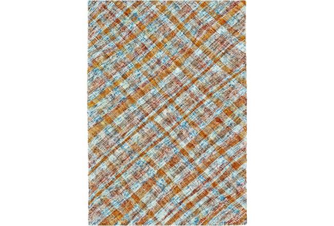 96X132 Rug-Aqua/Tangerine Argyle - 360