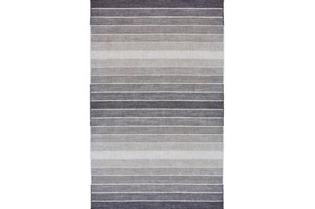 48X72 Rug-Light Grey Ombre Stripes