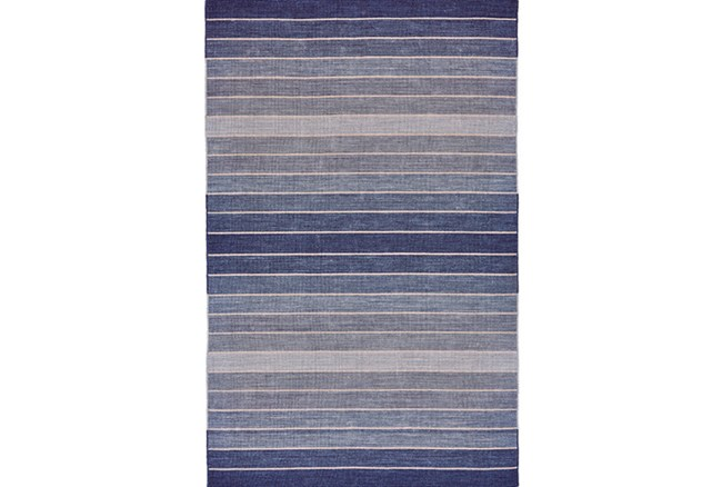 60X96 Rug-Denim Ombre Stripes - 360
