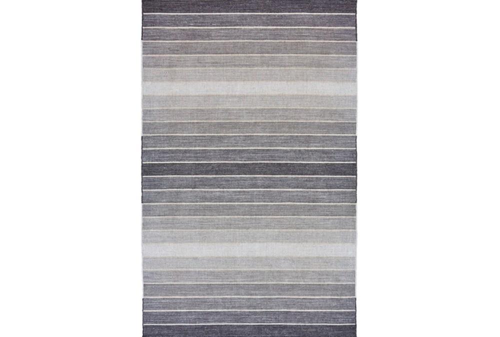5'x8' Rug-Light Grey Ombre Stripes