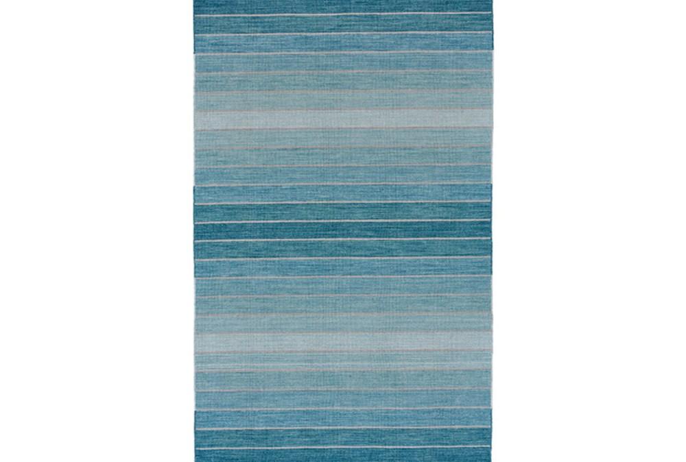 96X132 Rug-Aqua Ombre Stripes