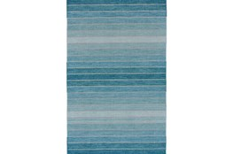 8'x11' Rug-Aqua Ombre Stripes