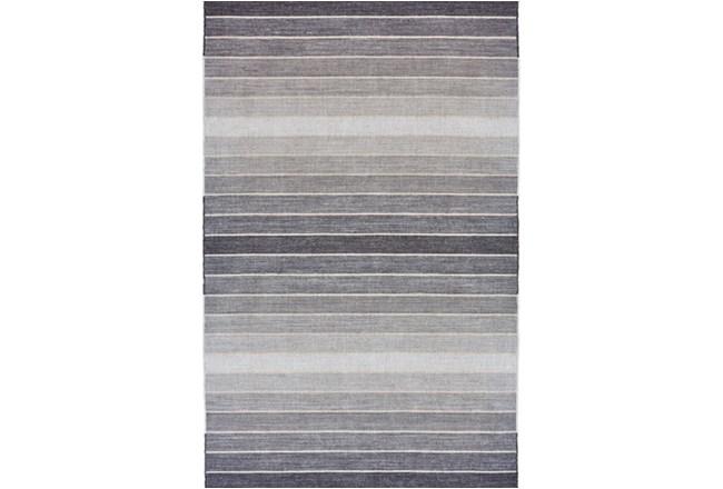96X132 Rug-Light Grey Ombre Stripes - 360