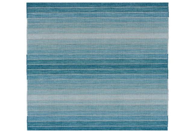 108X108 Square Rug-Aqua Ombre Stripes - 360
