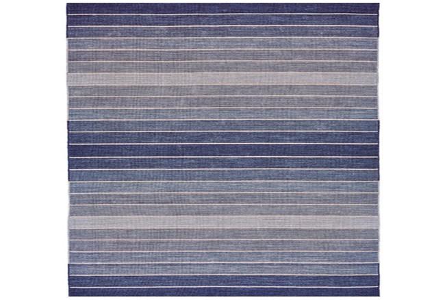 108X108 Square Rug-Denim Ombre Stripes - 360