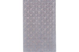 60X96 Rug-Blue Woven Cane