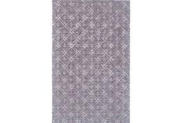 96X132 Rug-Grey Woven Cane