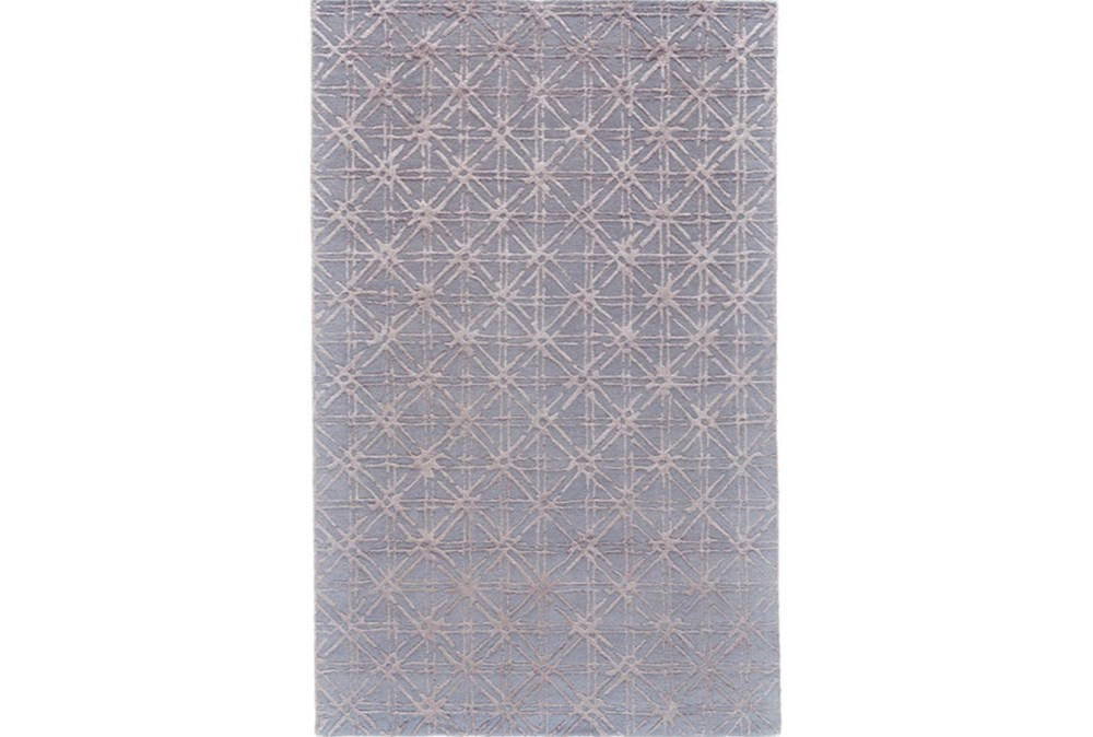 96X132 Rug-Blue Woven Cane