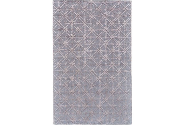 96X132 Rug-Blue Woven Cane - 360