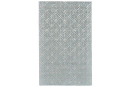 138X162 Rug-Blue Woven Cane