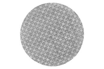 120 Round Rug-Grey Woven Cane