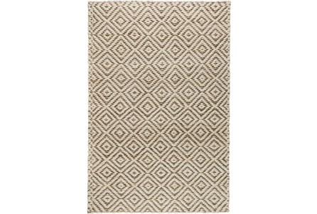 60X96 Rug-Grey Diamond Jute