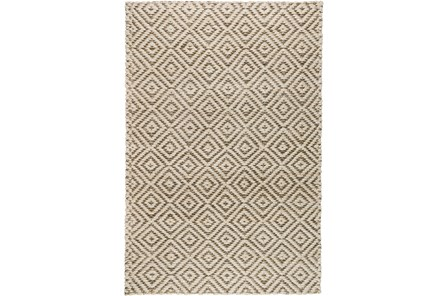 60X96 Rug-Grey Diamond Jute - Main