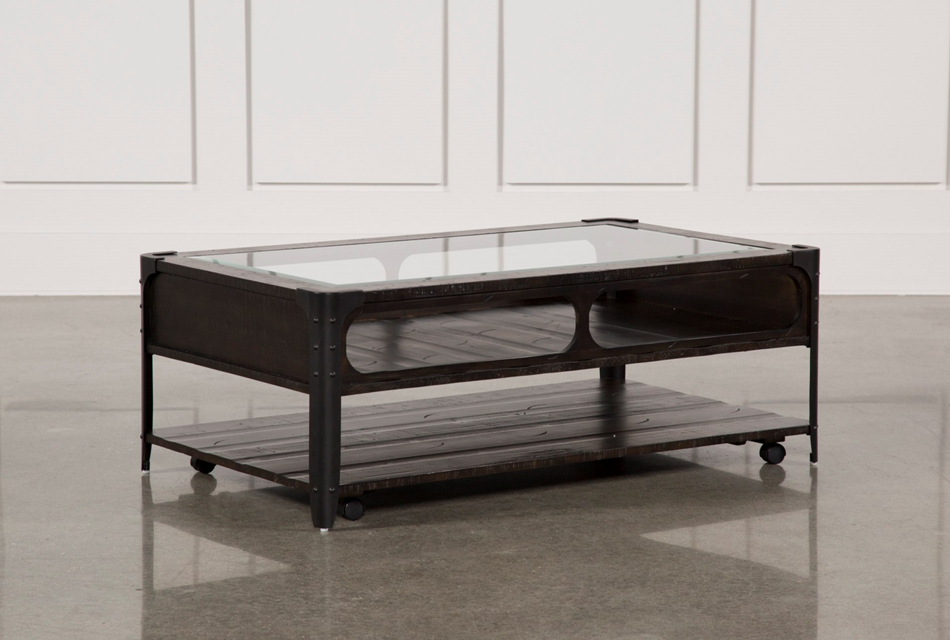 Miles Cocktail Table W Casters