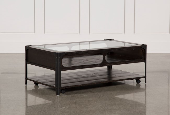 Miles Cocktail Table W/Casters - 360