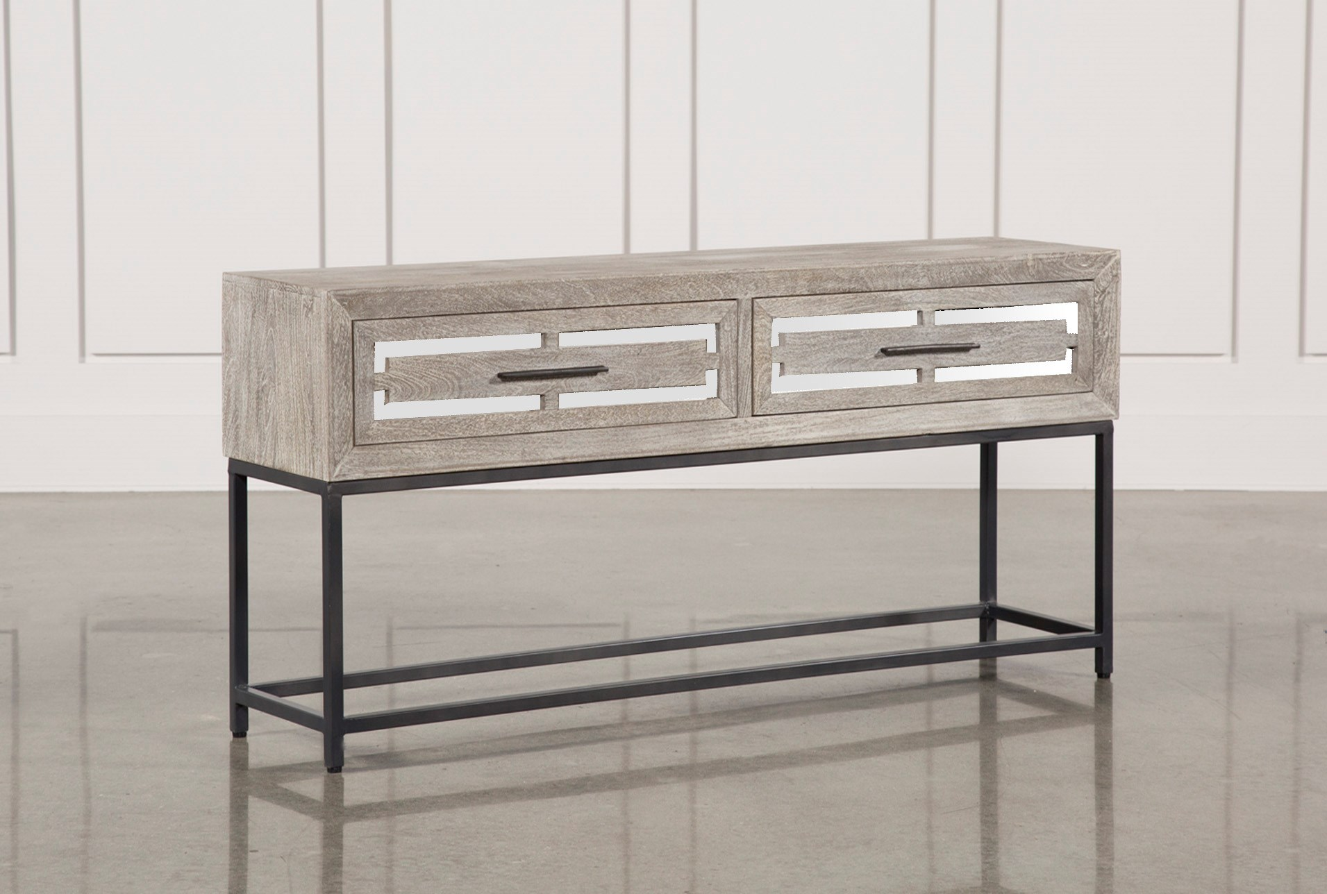 Baybrin Sofa Table Living Spaces ~ Sofa Tables With Drawers