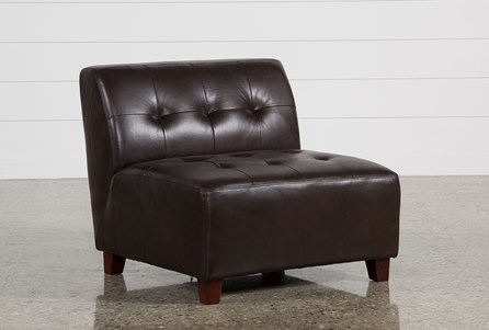 Maxine Leather Armless Chair