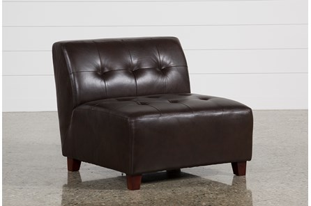 Maxine Leather Armless Chair - Main