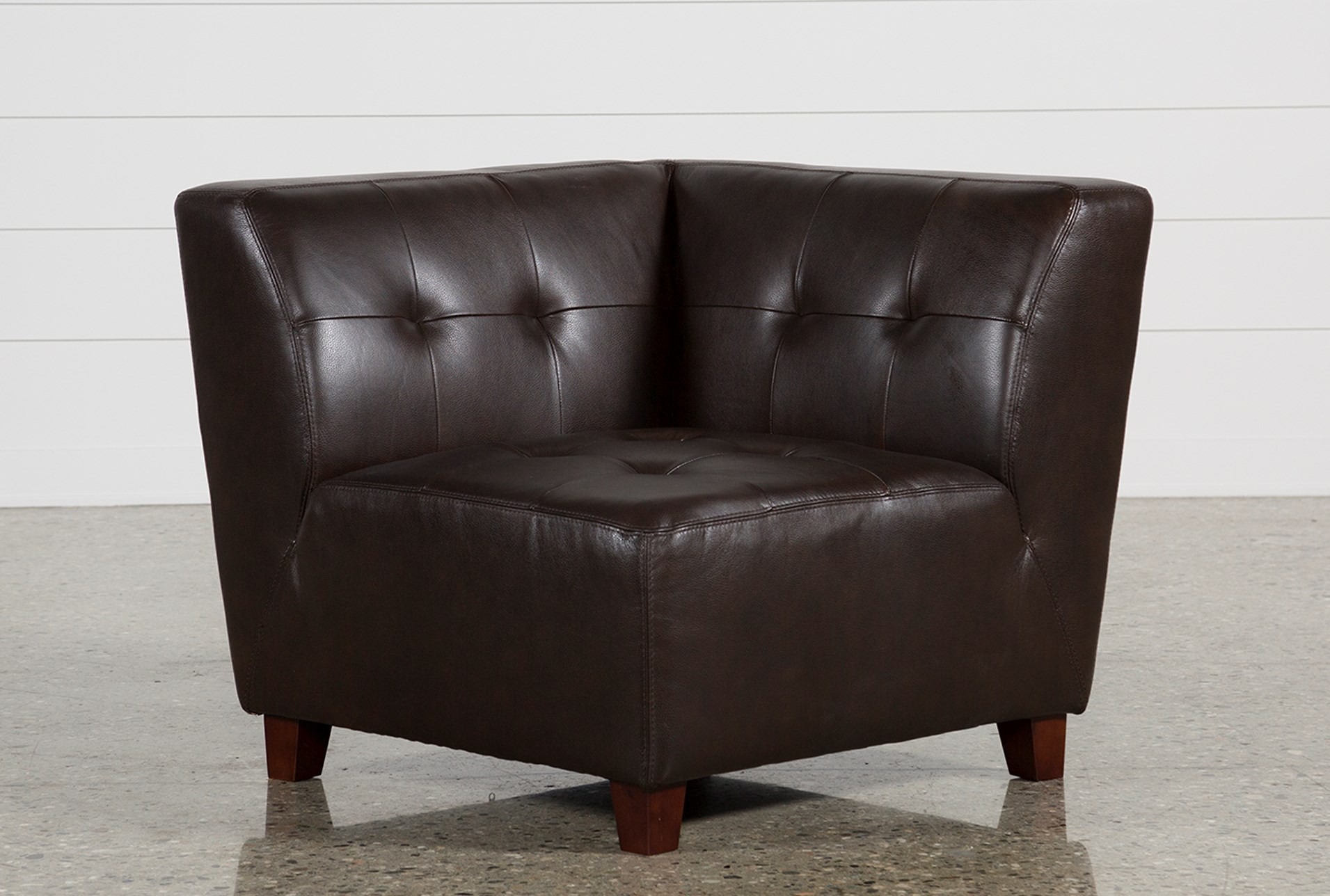 maxine leather corner chair living spaces