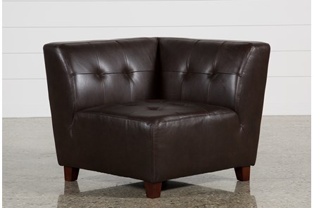 Maxine Leather Corner Chair - Main