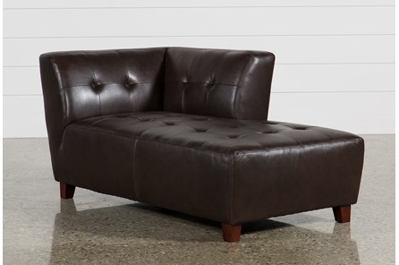 Maxine Leather Right Facing Chaise - Main