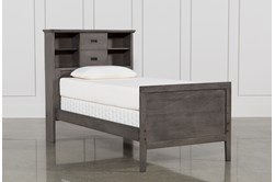 Owen Grey Twin Bookcase Bed With No Storage