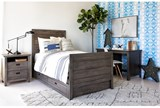 Owen Grey Twin Panel Bed W/Trundle Storage - Room