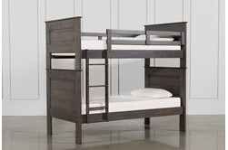 Owen Grey Twin Over Twin Bunk Bed
