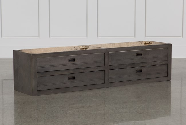 Owen Grey 4-Drawer Underbed Storage - 360