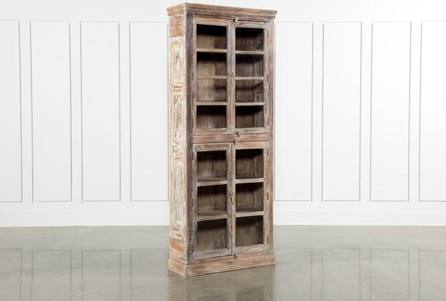 Glass 4-Door Accent Cabinet - 360
