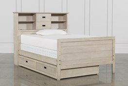 Owen Sand Full Bookcase Bed W/Trundle Storage