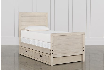 Owen Sand Twin Panel Bed W/Trundle Storage - Main