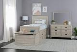 Owen Sand Full Panel Bed W/Doube 4-Drawer Storage Unit - Room
