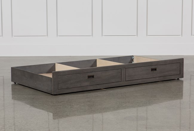 Owen Grey Storage Trundle - 360